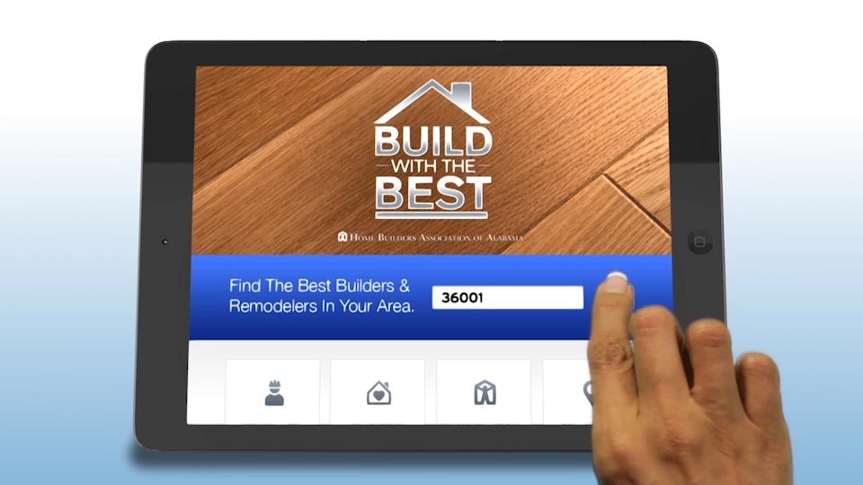 Home Builders App in tablet