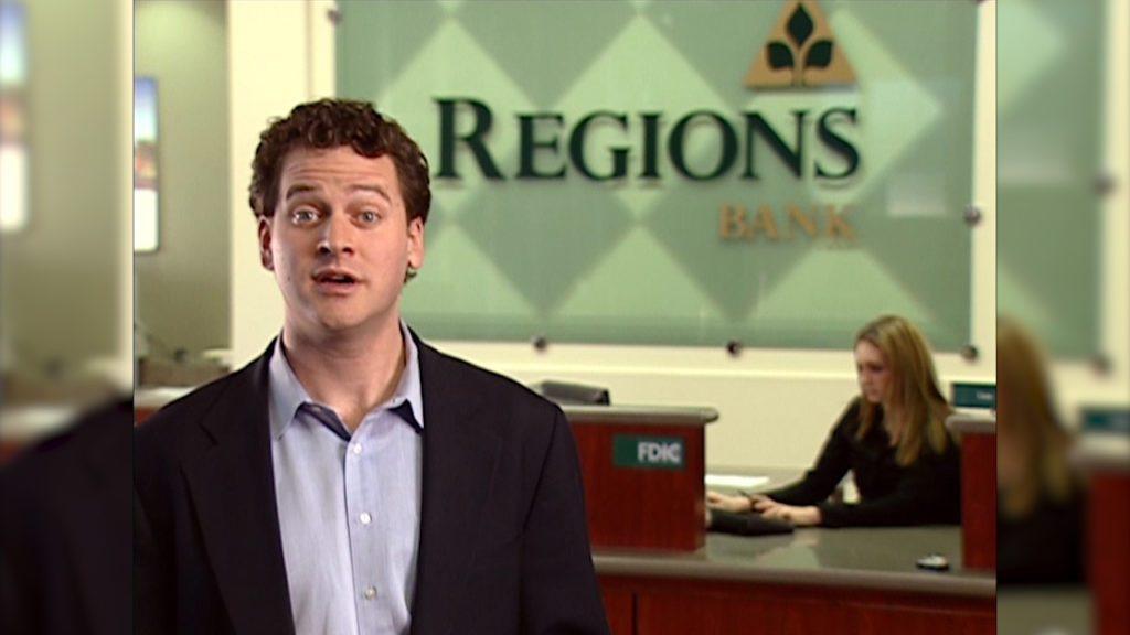 Regions bank spokesman in a bank