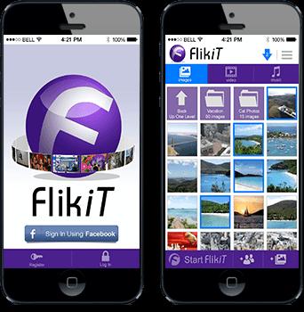Flikit App Screens in Phones