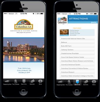 Visitors & Convention Center of Columbus, GA app in phones