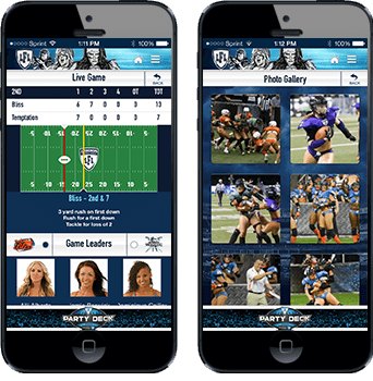 Screens from the Legends App in phones