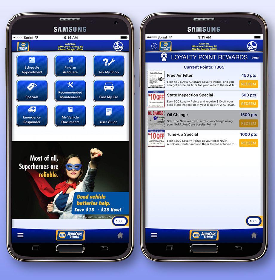NAPA AutoCare App in Phones
