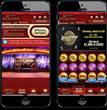Pearl River App screens in phones