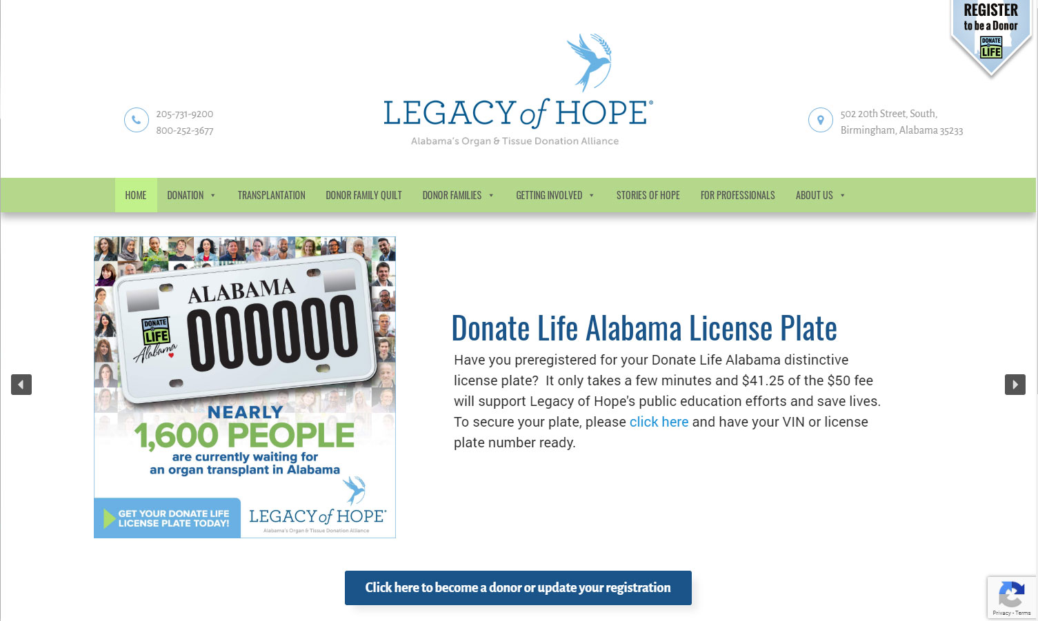 Legacy of Hope Website