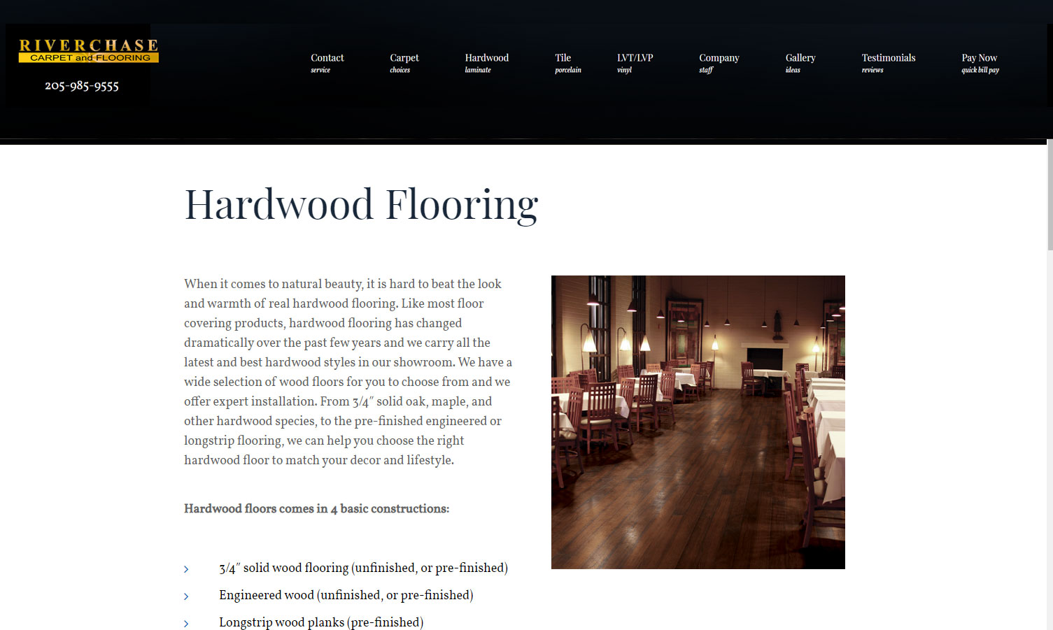 verchase Carpet & Flooring website