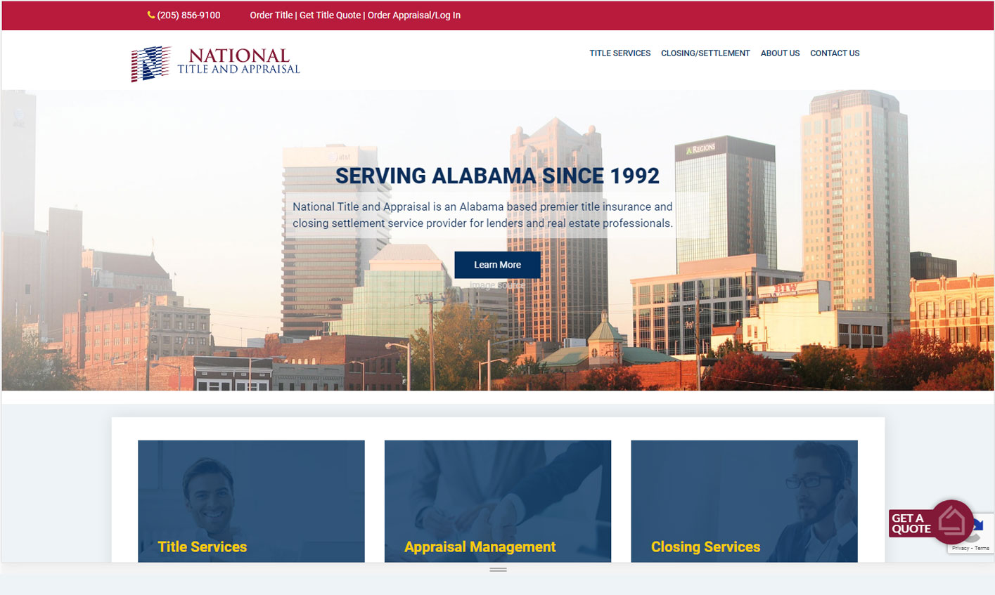 National Title Appraisal website