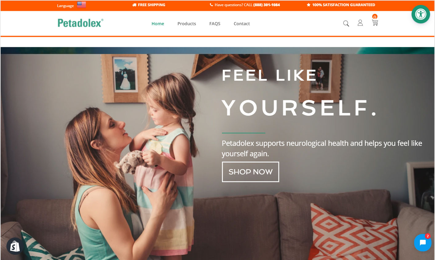 Petadolex website